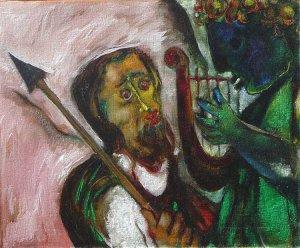 King David playing his harp