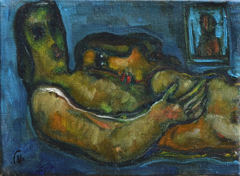 Lovers at Night 33 X 25