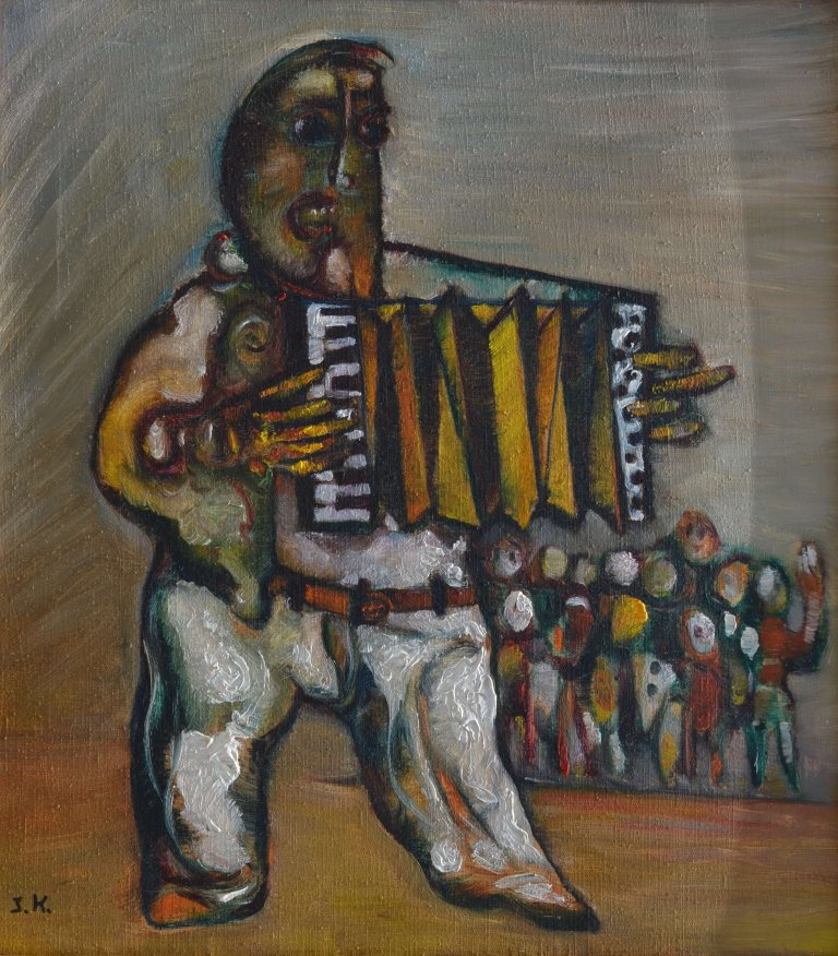 The Accordion Player 65 X 60