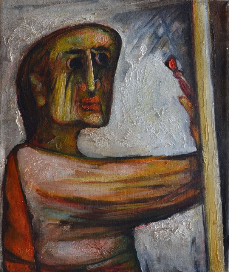 Painter and Canvas 60X50